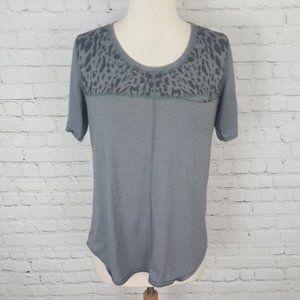 Lululemon Runaway Tee Shirt Top Animal Print Gray